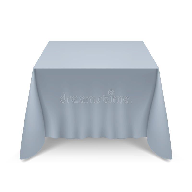 tablecloth för tabell för kaviarmatställepannkakor stock illustrationer