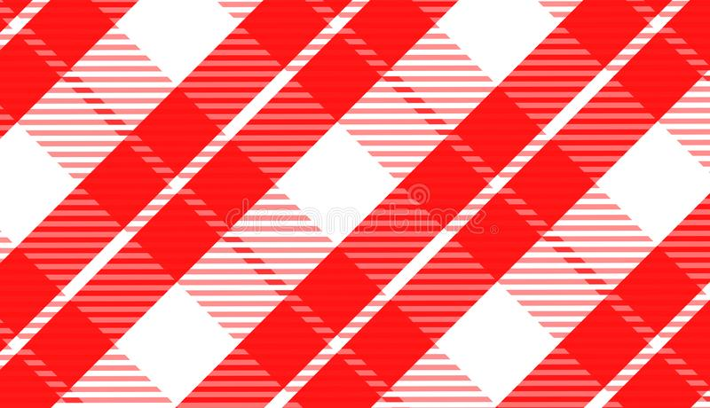 Tablecloth gingham pattern for plaid,background,tablecloths for textile articles,red and black cell,vector illustration. royalty free illustration