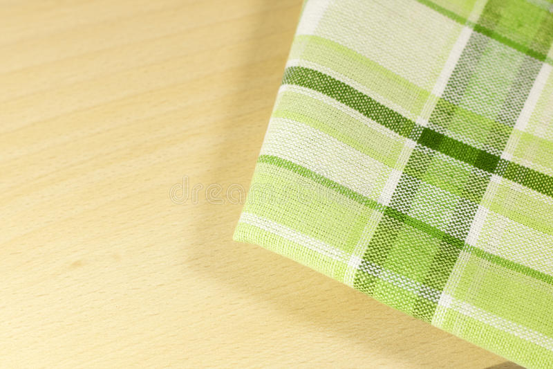 Tablecloth i kök arkivbilder