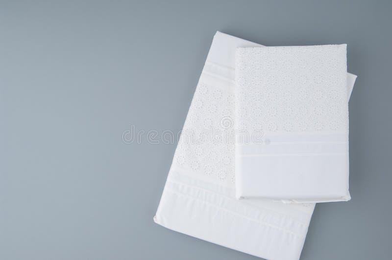 Tablecloth na szarym tle fotografia royalty free