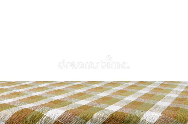 Tablecloth odizolowywający na białym tle z c obrazy royalty free