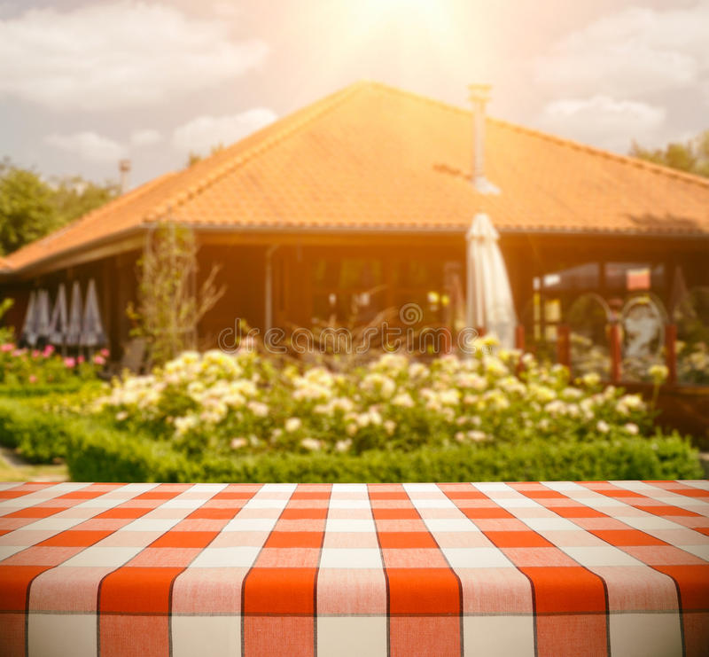 Download Table at Restaurant stock photo. Image of bistro, cloth - 34916686