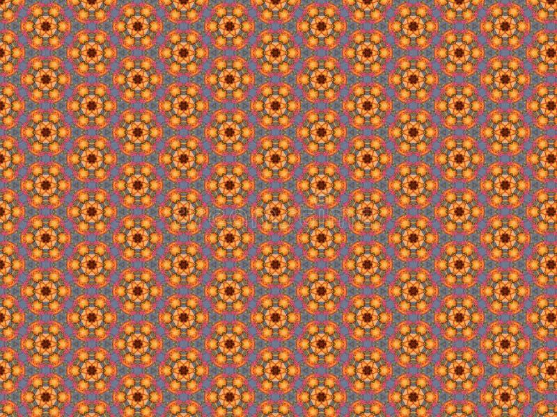 Tablecloth z wzorem jagody menchie i pomarańczowy kolor w błękitnej komórce royalty ilustracja