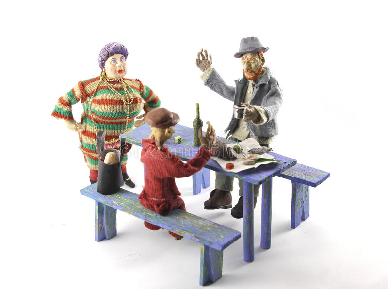 Tableful royalty-vrije stock foto