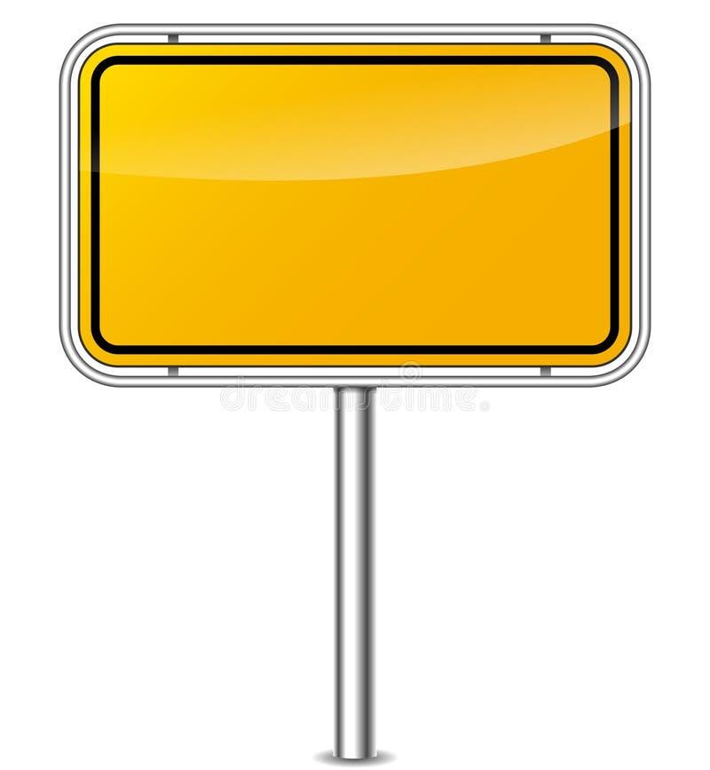 Tablero amarillo de la muestra ilustración del vector