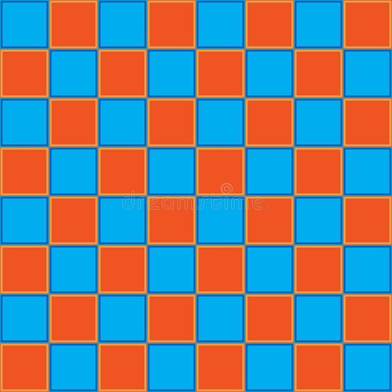 Tablero azul del orrange de la tabla del ajedrez para la competencia libre illustration