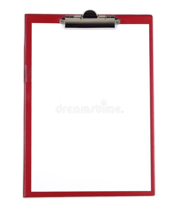 Tablero con el Libro Blanco en blanco foto de archivo libre de regalías