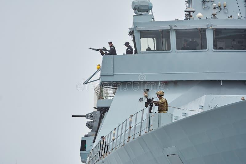 Tablero correcto de atrevimiento del HMS foto de archivo libre de regalías