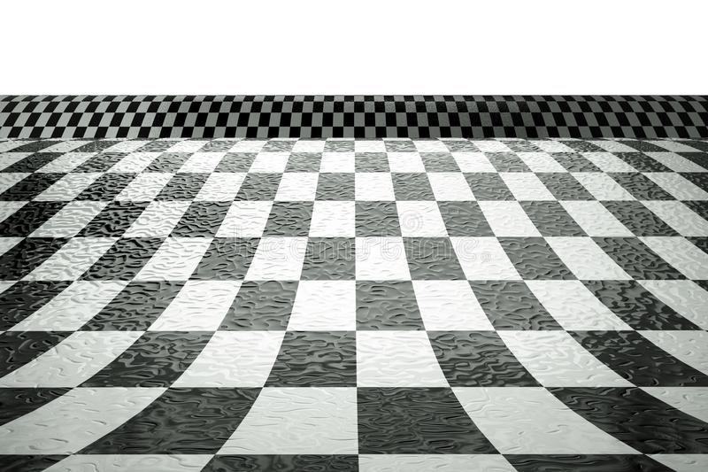 Tablero de ajedrez stock de ilustración