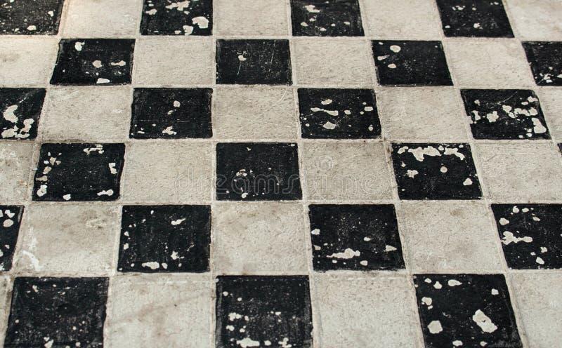 Tablero de ajedrez antiguo para el fondo fotos de archivo