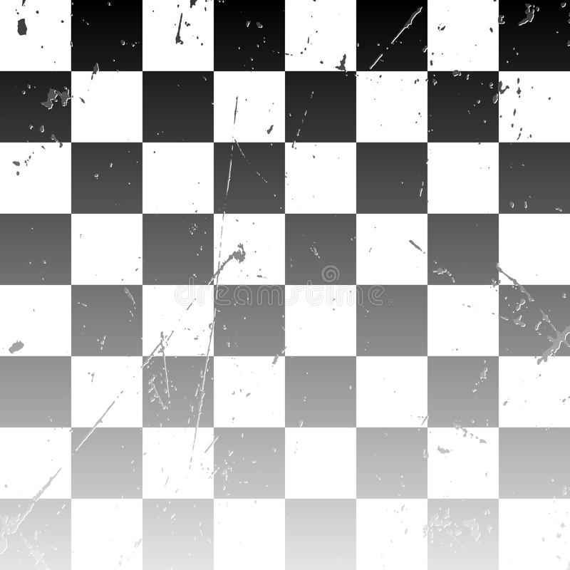 Tablero de ajedrez blanco y negro stock de ilustración