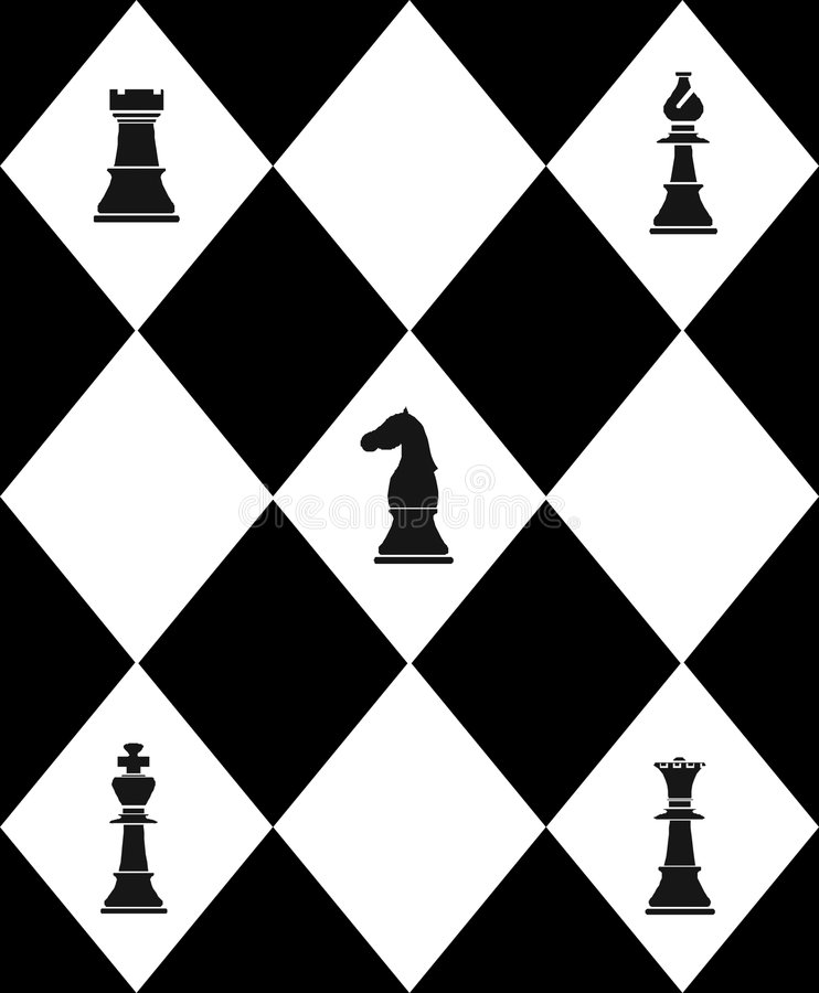 Tablero de ajedrez con ajedrez libre illustration