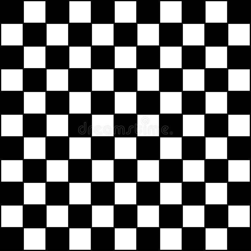 Tablero de ajedrez a cuadros, papel pintado del fondo de la raza ilustración del vector
