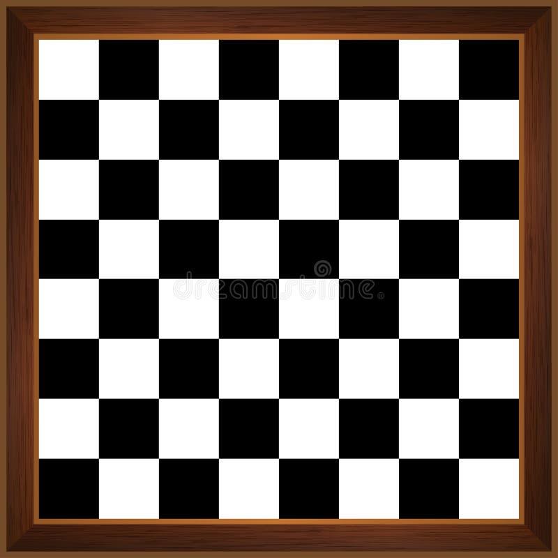 Tablero de ajedrez de madera stock de ilustración