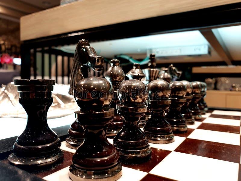 Tablero de ajedrez para la decoración fotografía de archivo