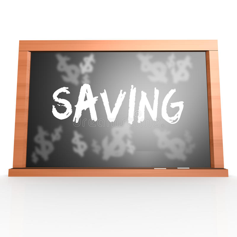 Tablero de Bllack con palabra del ahorro libre illustration