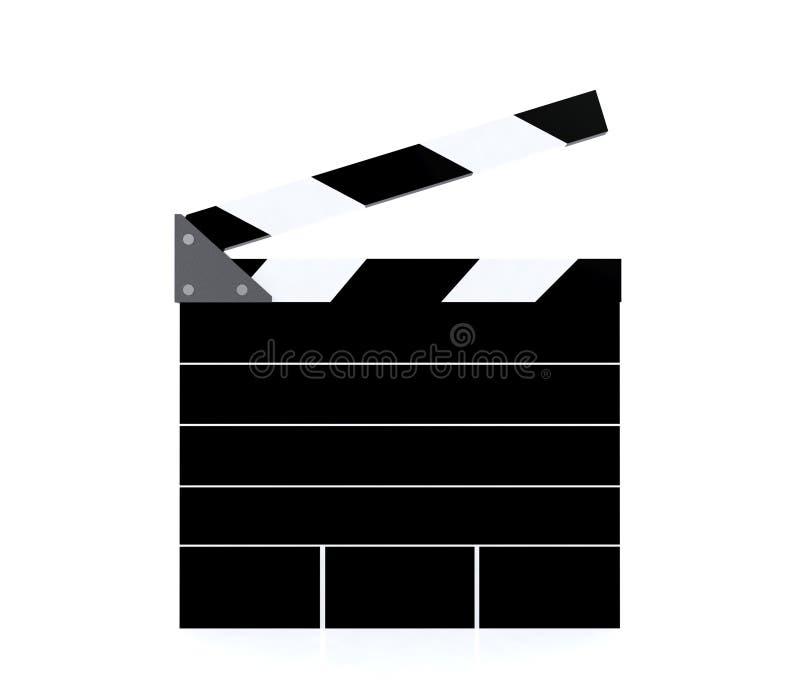 Tablero de chapaleta en blanco de la producción de la película con el espacio de la copia fotos de archivo libres de regalías