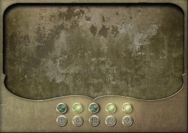 Tablero de control del panel de Steampunk vacío imágenes de archivo libres de regalías