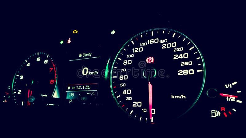 Tablero de instrumentos de Audi Q5 fotografía de archivo