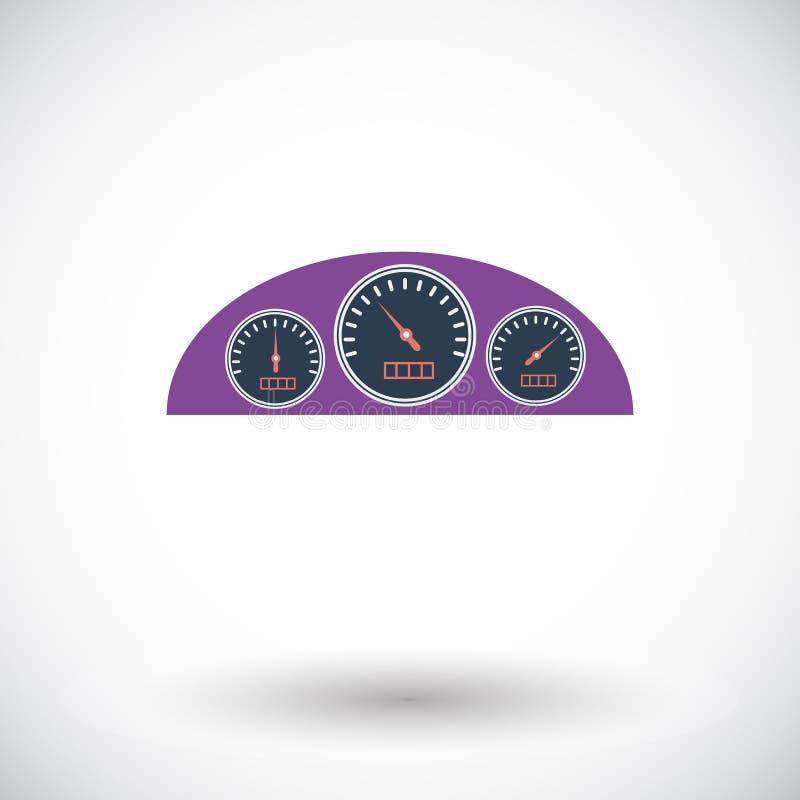 Tablero de instrumentos del icono stock de ilustración