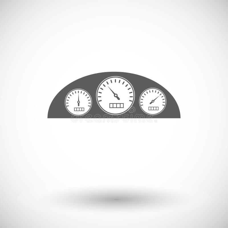 Tablero de instrumentos del icono ilustración del vector