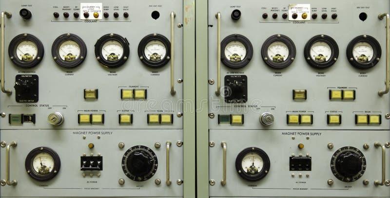 Tablero de instrumentos del vintage imagenes de archivo