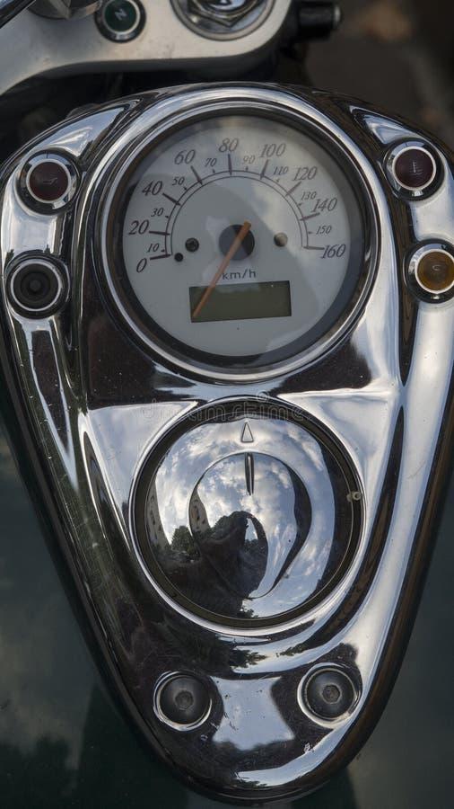 Tablero de instrumentos de la motocicleta imagen de archivo libre de regalías
