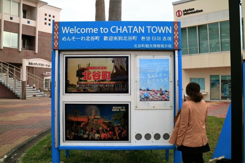 Tablero de la información en Chatan foto de archivo
