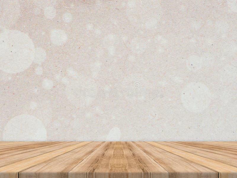 Tablero de la mesa de madera en la pared de papel tropical for Papel pared madera