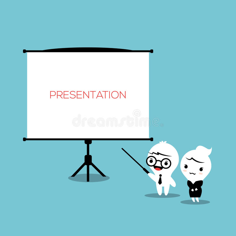 Tablero de la presentación ilustración del vector