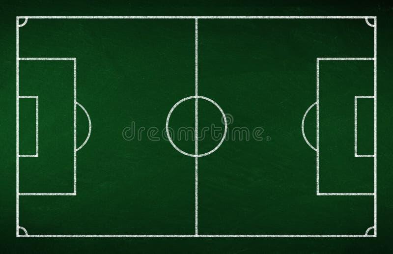 Tablero de la táctica del fútbol imagen de archivo
