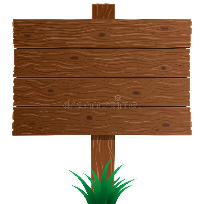 Tablero de madera de la muestra en vector ilustración del vector