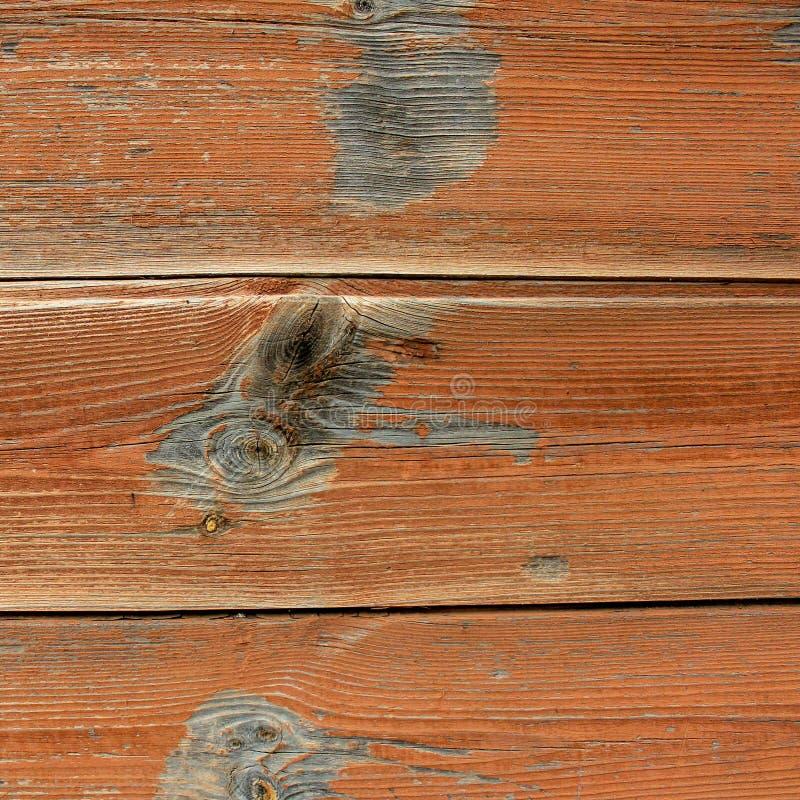 Tablero de madera del tablón, fondo de madera de la playa del vintage - tablón de madera resistido viejo pintado en color marrón imagen de archivo libre de regalías