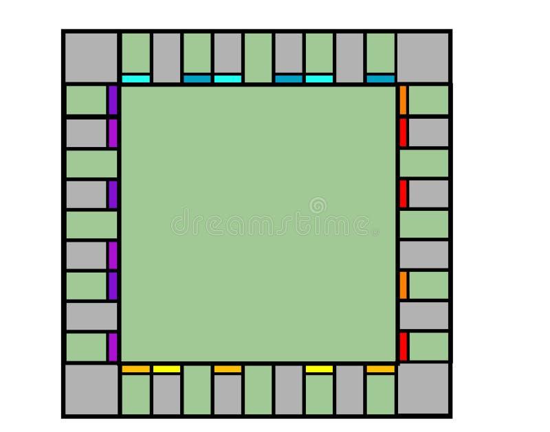Tablero de monopolio vacío stock de ilustración