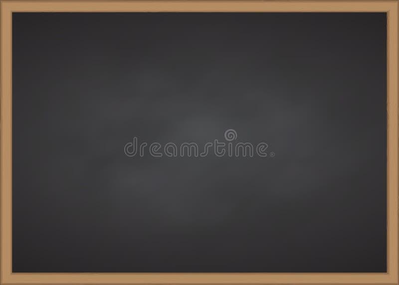 Tablero de tiza negro con el marco de madera imagenes de archivo