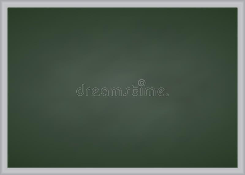 Tablero de tiza verde con el marco metálico fotografía de archivo libre de regalías
