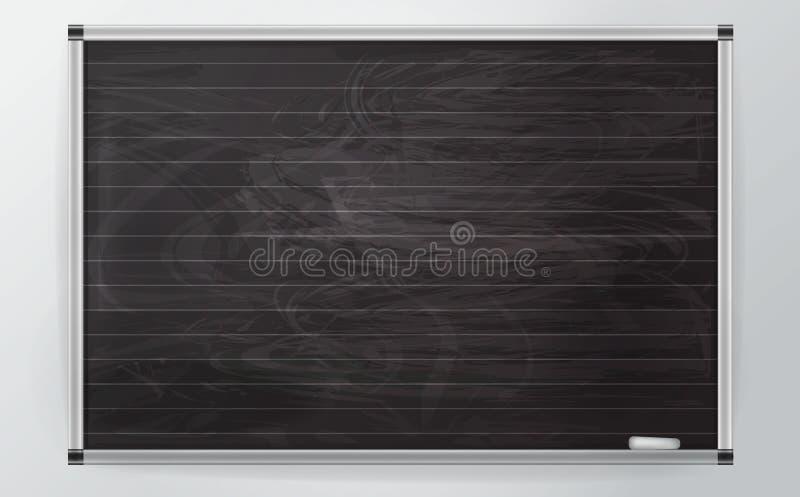 tablero del businessl del negro 3d con tiza y las l?neas en el estilo del realismo tablero del negocio con el perfil de aluminio  libre illustration