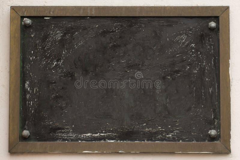 Tablero del cuadrado del boletín del vintage fondo sucio envejecido de la pared de la calle imágenes de archivo libres de regalías