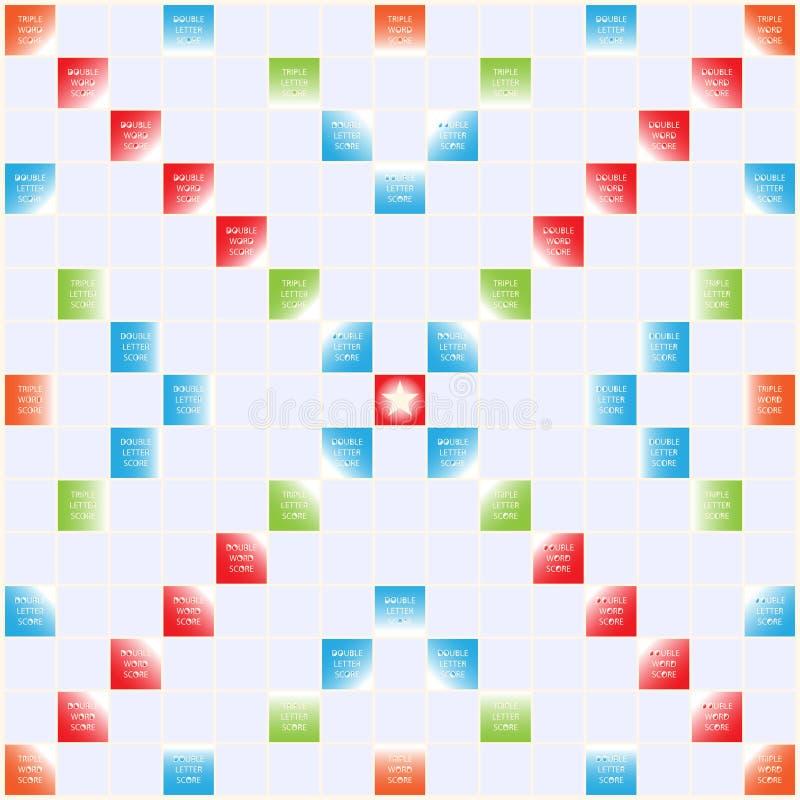 Tablero del scrabble ilustraci n del vector ilustraci n for Precio juego scrabble mesa