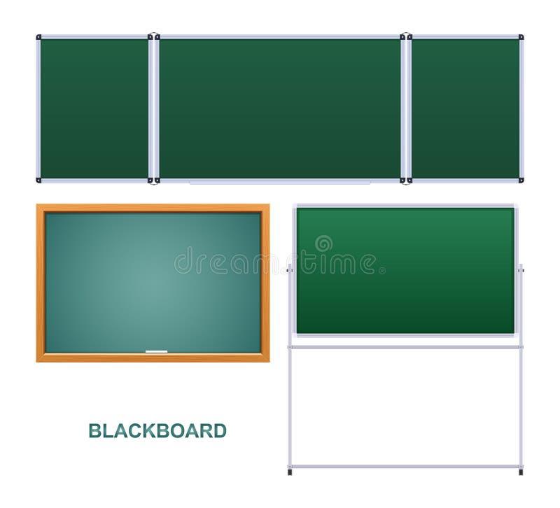 Tablero educativo verde, marco de madera, instituci?n educativa libre illustration