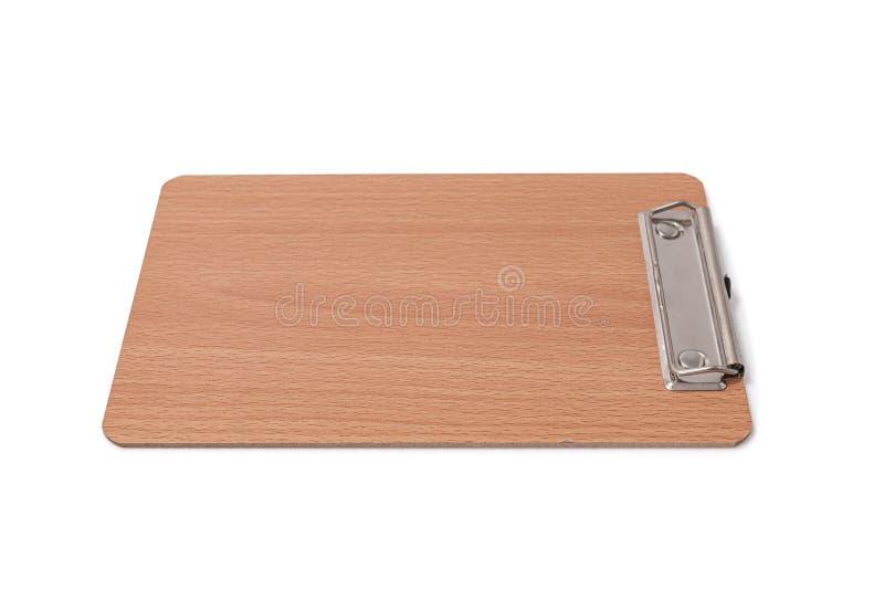 Tablero en blanco de madera aislado imagen de archivo