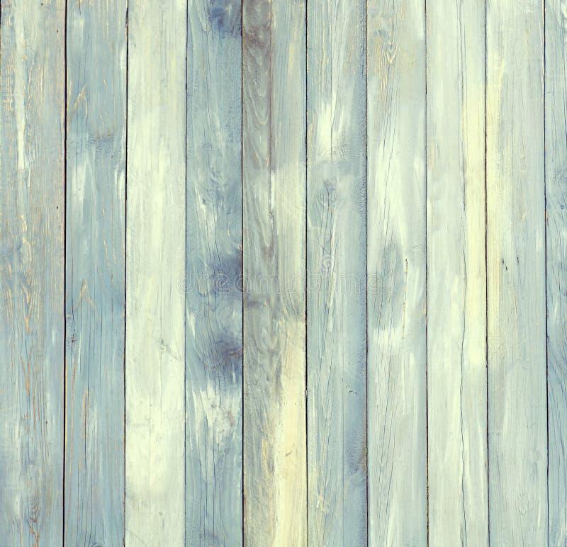 Tablero envejecido con el tinte azul con las líneas verticales foto de archivo libre de regalías