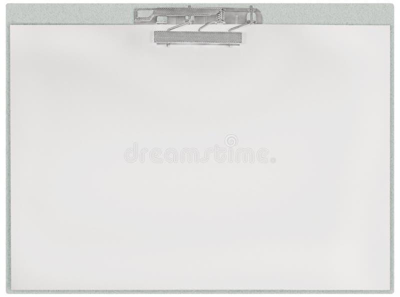 Tablero horizontal, fondo aislado vacío en blanco de la textura de la hoja del espacio de la copia de archivo del Libro Blanco, p fotos de archivo