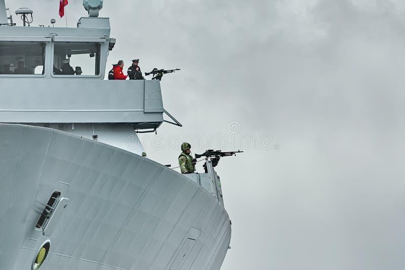 Tablero izquierdo de atrevimiento del HMS imagen de archivo libre de regalías