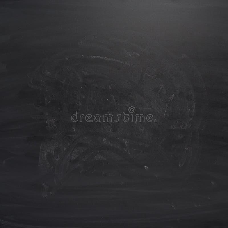 Tablero negro con los rastros de tiza imágenes de archivo libres de regalías