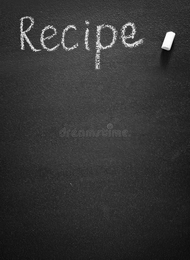 Tablero negro para la receta fotografía de archivo libre de regalías