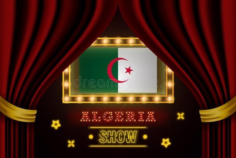 Tablero para el funcionamiento, cine, entretenimiento, ruleta, póker del tiempo de la demostración del acontecimiento del país de stock de ilustración