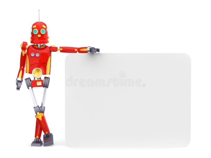 Tablero retro del robot del vintage ilustración del vector