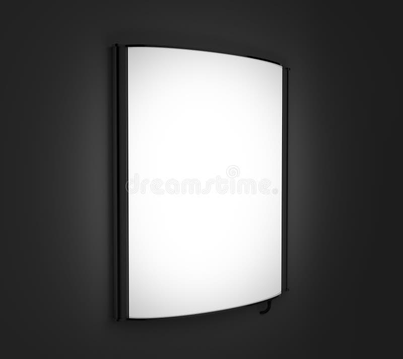 Tablero retroiluminado de la señalización, tablero de publicidad llevado del resplandor, muestra de la compañía del vinilo en la  libre illustration