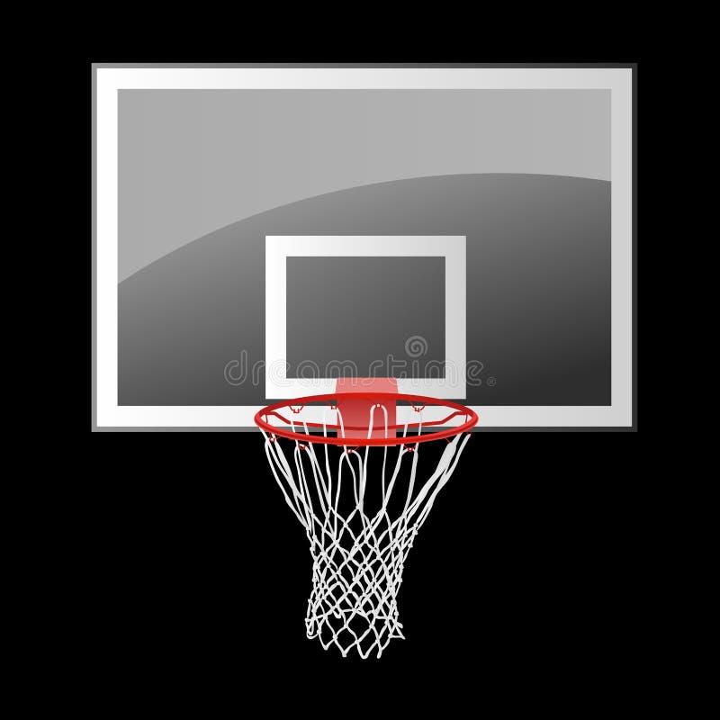 Tablero trasero de baloncesto ilustración del vector
